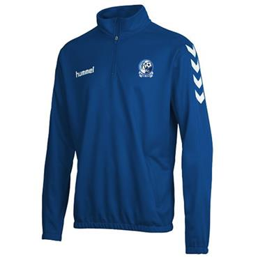 HUMMEL MENS RAPHOE FC CORE HALF ZIP - BLUE