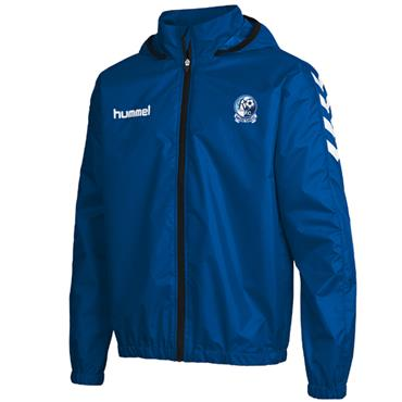 HUMMEL MENS RAPHOE FC CORE SPRAY JACKET - BLUE