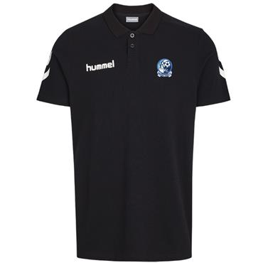 HUMMEL MENS RAPHOE FC COTTON POLOSHIRT - BLACK