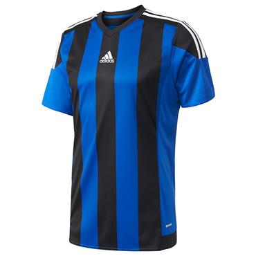 ADIDAS BOYS CLIMACOOL STRIPED 15 TSHIRT - BLUE