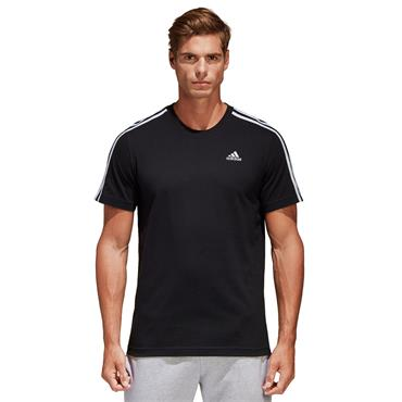 MENS ESSENTIAL 3 STRIPE TSHIRT - BLACK
