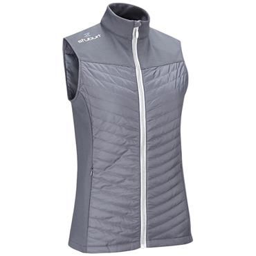 STUBURT WOMENS FULL ZIP PADDED GILET - GREY