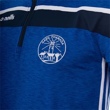 O'Neills Adults Fanad Gaels GAA Half Zip Top - BLUE