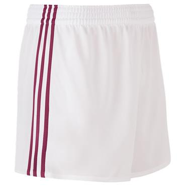 SPERRIN SHORTS - WHITE/MAROON