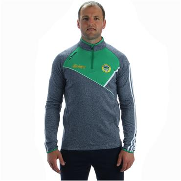O'Neills Kids Glenswilly GAA Suir 122 Half Zip Top - Grey/Green