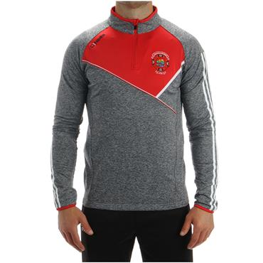 O'Neills Adults St. Michaels GAA Suir 122 Half Zip Top - Grey/Red