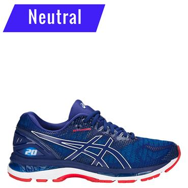 ASICS MENS NIMBUS 20 RUNNING SHOE - BLUE