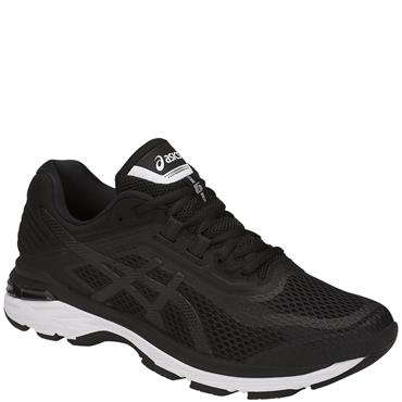 ASICS MENS GT 2000 6 RUNNING SHOE - BLACK/WHITE