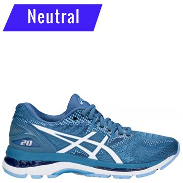 ASICS WOMENS GEL NIMBUS RUNNING SHOE - BLUE