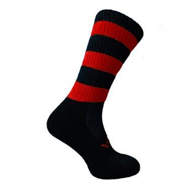 Atak Urris GAA Midi Socks - Black/Red