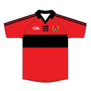 O'Neills Adults Urris GAA Retro Jersey - Red/Black
