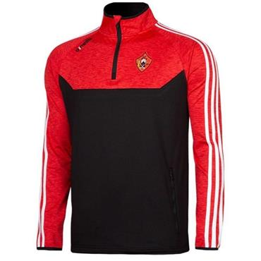 O'Neills Adults Urris Kasey Half Zip - Black/Red