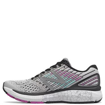 NEW BALANCE WOMENS 860V9 RUNNING SHOE - WHITE/PURPLE