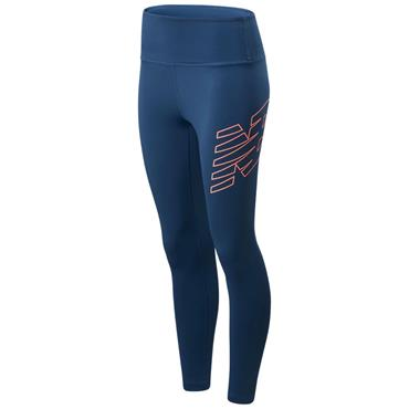 New Balance Womens Achiever 7/8 Length Tights - Blue