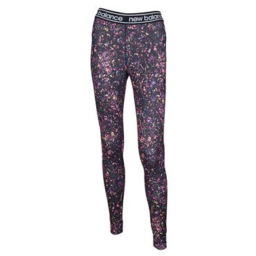 WOMENS PRINTED ACCELERATE TIGHTS - BLACK/MULTI