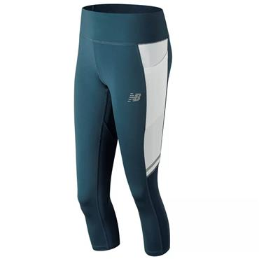 New Balance Womens Impact Capri Leggings - Teal