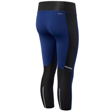 New Balance Womens Impact Capri Leggings - Navy