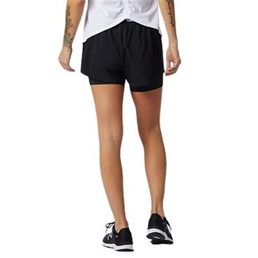New Balance Womens Relectless 2 in 1 Shorts - BLACK