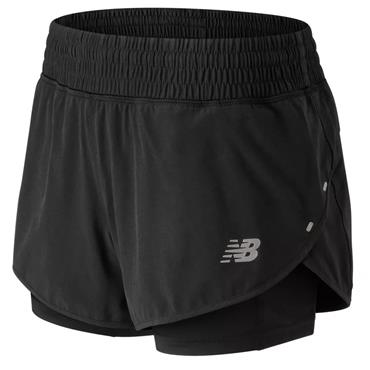 New Balance Womens Impact Shorts - BLACK