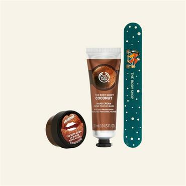 The Body Shop Hand-Cracked Coconut Lips, Hands & Nails Kit