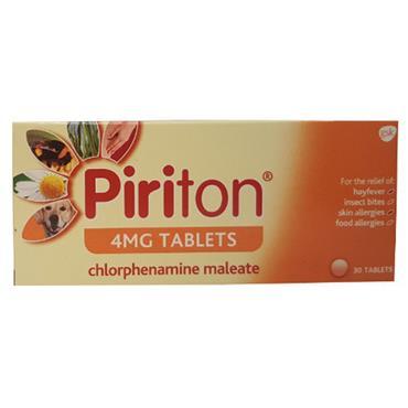 Piriton 4mg Tablets 30's