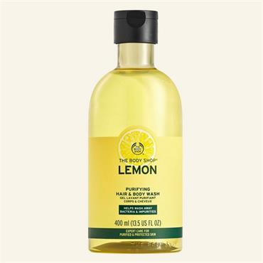 The Body Shop Lemon Purifying Hair & Body Wash 400ml