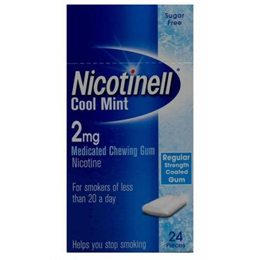 Nicotinell Coolmint Gum 2mg 24's