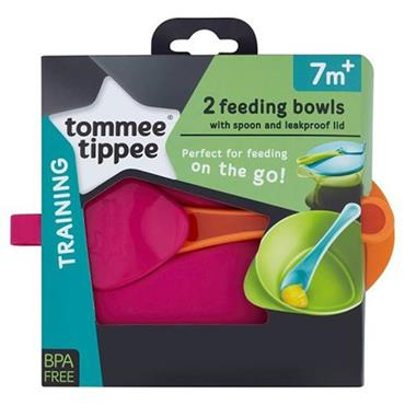 TOMMEE TIPPEE FEEDING BOWLS 7 MONTHS - 2 PACK