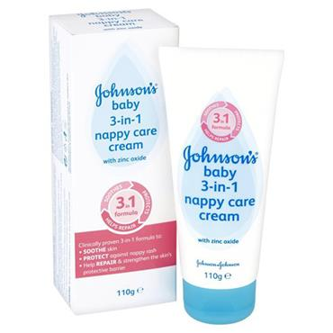 JOHNSONS 3-IN-1 NAPPY CARE CREAM