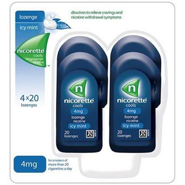 Nicorette Cools 4mg 4X20
