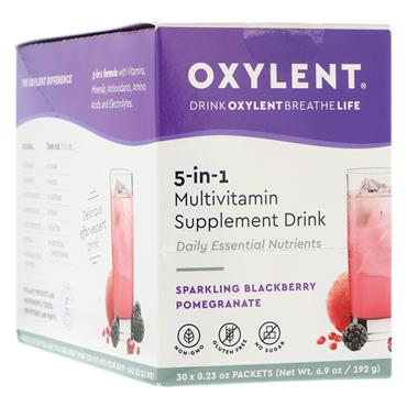 Oxylent Sparkling Blackberry & Pomegranate Flavour 30 sachets/servings Pack