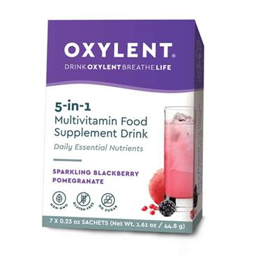 Oxylent Sparkling Blackberry & Pomegranate Flavour 7 sachets/servings Pack