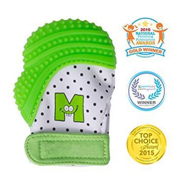 Mouthie Mitten Green - Age 3-8 months