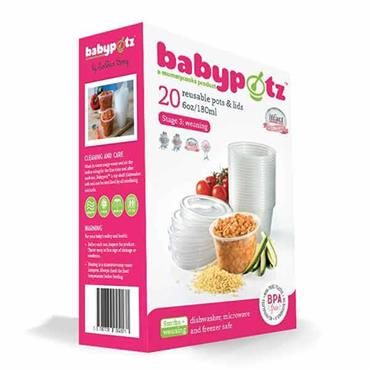 BABYPOTZ REUSABLE FOOD POTS - STAGE 3: WEANING