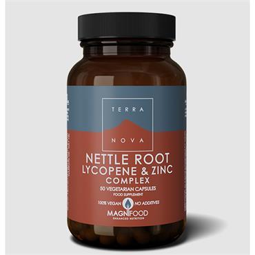 Terranova Nettle Root, Lycopene & Zinc Complex 50 Capsules