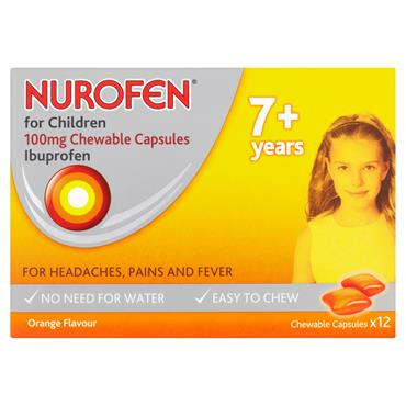 Nurofen for Children Soft Chews 7+Years 12's