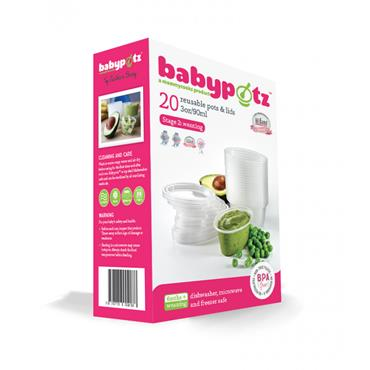 BABYPOTZ REUSABLE FOOD POTS - STAGE 2: WEANING