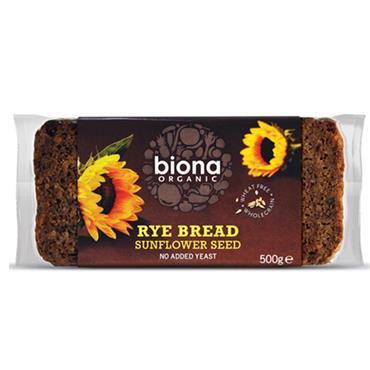 Biona Rye Bread Sunflower Seed Org 500g