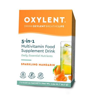 Oxylent Sparkling Mandarin Flavour 7 sachets/servings Pack