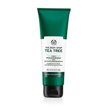 THE BODY SHOP TEA TREE 3 in 1 WASH.SCRUB.MASK 125ml
