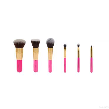 Blank Canvas Dimension Series Metallic Gold & Hot Pink 6 Piece Travel Set