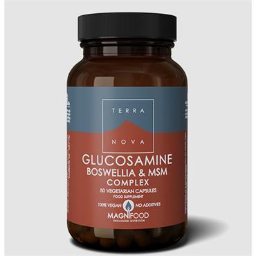 Terranova Glucosamine Boswellia & MSM Complex 50 Capsules