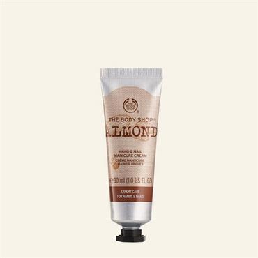 The Body Shop Almond Hand & Nail Manicure Cream 30ml