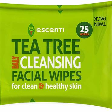 Escenti Tea Tree Cleansing Wipes Twin Pack