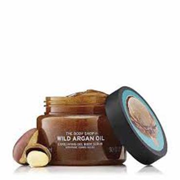 THE BODY SHOP Wild Argan Oil Exfoliating Gel Body Scrub 50ml
