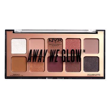 NYX Away We Glow Eye Shadow Palette - Hooked On Glow