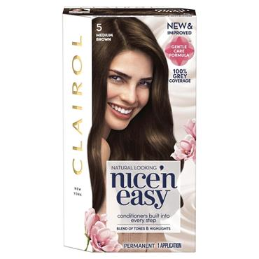 Clairol Nice ' N Easy Permanent Hair Dye - 5 Medium Brown