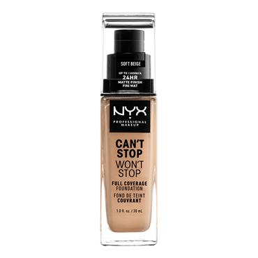 NYX Cant Stop Wont Stop 24-Hour Foundation - Alabaster