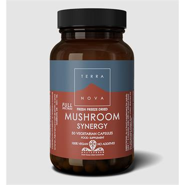 Terranova Mushroom Synergy Full Spectrum-Fresh Freeze Dried-Organic 50 Capsules