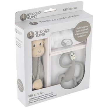Matchstick Monkey Box Gift Set Grey